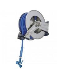 Enrouleur de tuyau avec douchette - 10 mètres - raccord 1/2
