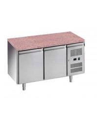 Tour pâtissier réfrigéré avec granit - 2 portes - 600 x 400
