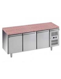 Tour pâtissier réfrigéré avec granit - 3 portes 600 x 400
