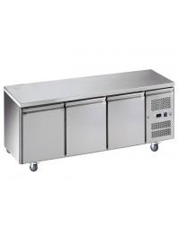 Tour pâtissier réfrigéré inox - 3 portes 600 x 400