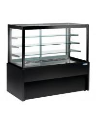 Vitrine comptoir noire panoramique - ventilée - 4 niveaux - sans réserve - L 1500 mm