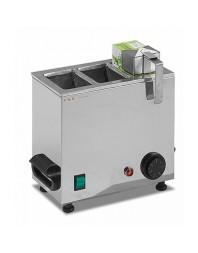 Chauffe-lait/briques - 2 réservoirs - 2 x 1 litre