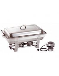 Chafing dish GN 1/1 - profondeur 65 mm - avec plaque chauffante électrique