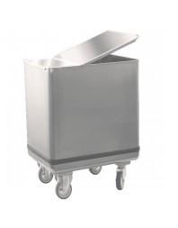 Trémie pour farine- entièrement en inox - Capacité 150 litres