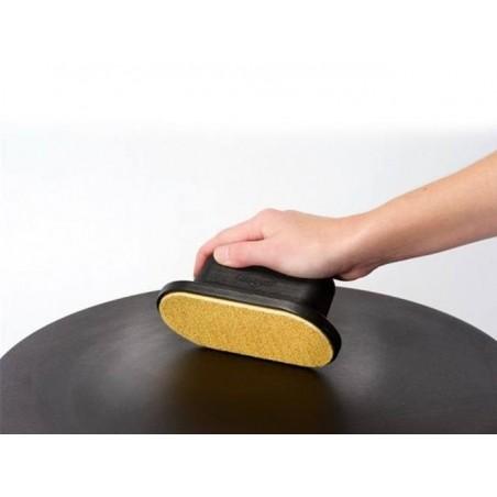 Tampon d'essuyage ovale pour crêpières