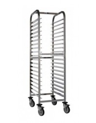 Chariot inox mobile GN 600 x 400 - 20 niveaux