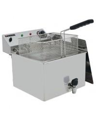 Friteuse électrique professionnelle avec robinet de vidange - 10 L - Triphasé - TECHNITALIA