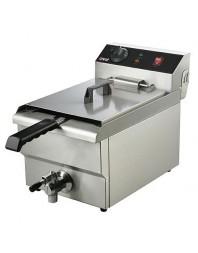 Friteuse électrique professionnelle avec robinet de vidange - 8 L - CARAT