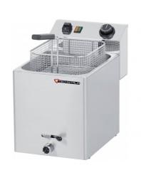 Friteuse électrique professionnelle avec robinet de vidange - 8 L - Monophasé - TECHNITALIA