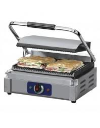 Grill panini professionnel modèle plaques rainurée-rainurée