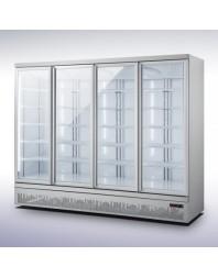 Armoire réfrigérée positive 0/+10°C - 4 portes vitrées battantes - 2025 litres