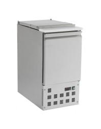 Saladette réfrigérée inox - 1 porte + couvercle télescopique - 1 bac GN 1/1