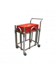 Chariot à plateaux ABS - 600 x 400 mm