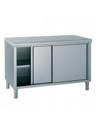 Table de travail avec portes coulissantes - profondeur 700 hauteur 850 mm - Différentes dimensions