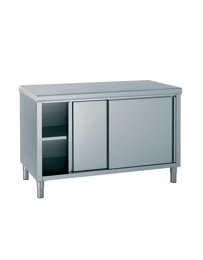Table Coulissante Sous Plan De Travail table de travail avec portes coulissantes - profondeur 800 hauteur 900 mm -  différentes dimensions - chr-master