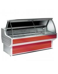 Comptoir vitrine réfrigérée à vitre bombée - froid statique - sans réserve - 0°/+2°C - Gamme Dakota