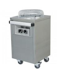 Chariot à distributeur d'assiettes chauffé pour 50 assiettes Ø260-320 mm