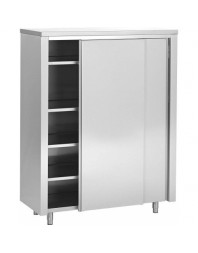 Armoire de rangement inox - 2 portes coulissantes - PROF.700 - Différentes dimensions au choix
