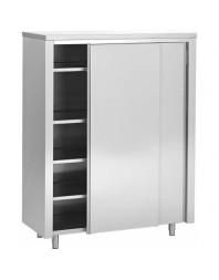 Armoire de rangement inox - 2 portes coulissantes - PROF.600 - Différentes dimensions au choix
