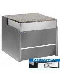 Meuble de caisse gris pour vitrine Florence Line - Longueur 700 mm