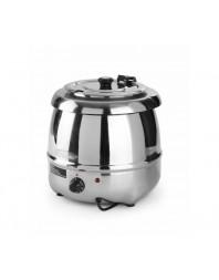 Marmite à soupe - 8 litres - Bain-marie - Version chromée
