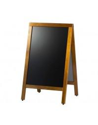 Tableau ardoise de trottoir - Cadre en bois rectangulaire - Largeur 500 mm