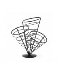 Support pour cornets de frites - 3 supports - 270 x 270 x 280 (h)mm