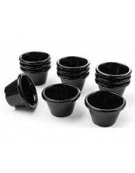 Ramequin - 45 ml - Noir - Lot de 12 pièces