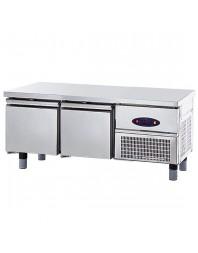 Soubassement réfrigéré - Froid positif - L 1400 mm - Prof 600 mm 2 tiroirs