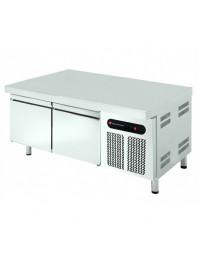 Soubassement réfrigéré - Froid positif - L 1342 mm - Prof 700 mm - 2 tiroirs - 255 L