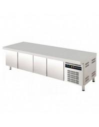 Soubassement réfrigéré - Froid positif - L 2242 mm - Prof 700 mm - 4 tiroirs - 550 L