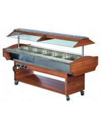 Buffet salad'bar bain marie 6 x GN 1/1