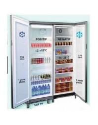 Armoire réfrigérée mixte positive/négative - 2 x 370 litres +2°/+10°C/-14°/-28°C