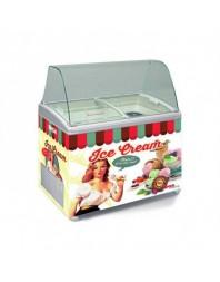 Vitrine comptoir conservateur de crèmes glacées - Gamme vintage - 400 L - TENSAÏ