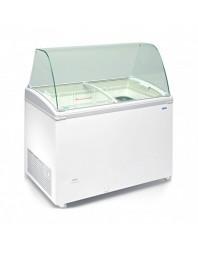 Vitrine comptoir conservateur de crèmes glacées - Gamme laqué blanc - 400 L - TENSAÏ