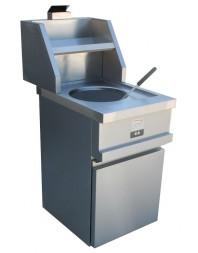 Friteuse à pot gaz sur coffre - 1 cuve ronde 13 litres - Commandes digitales