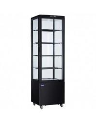 Vitrine réfrigérée panoramique - 4 faces vitrées - 280 L - 4 étagères - CARAT