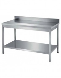 Table de travail adossée avec étagère inférieure - PROF 600 - Différentes dimensions - CARAT