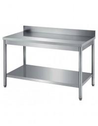 Table de travail adossée avec étagère inférieure - PROF 700 - Différentes dimensions - CARAT