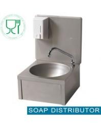Lave-mains mural avec distributeur de savon 500 ml - Largeur 400 mm
