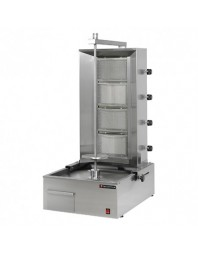 Machine à kebab gaz - 4 zones - 80 kg/jour - Technitalia