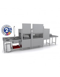 Lave-vaisselle professionnel à avancement automatique - Prélavage + Lavage + Rinçage - Colged - ISY31102
