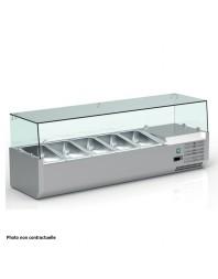 Vitrine réfrigérée pour 7 bacs GN 1/4 de 150 mm - VRX150