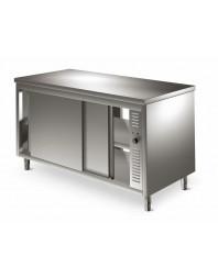 Table armoire basse traversante chauffante - différentes dimensions - Profondeur 700 - MASTRO