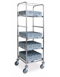 Chariot de transport de casiers lave-vaisselle 7 x 500 x 500