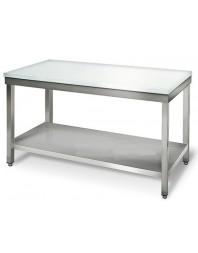 Table de découpe centrale - Inox ferritique - Profondeur 600 - Différentes dimensions