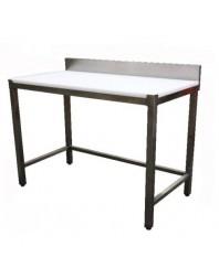 Table de découpe adossée- Inox AISI 304 - Profondeur 700 - Différentes dimensions