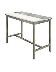 Table de découpe centrale mixte avant-arrière - AISI 304 - Avec ou Sans étagère - Prof 700 - Plusieurs dimensions de table