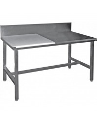 Table de découpe mixte cote à cote adossée - 1200 mm - Prof 600 - AISI 304