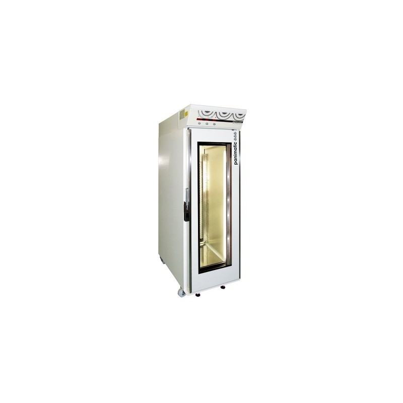 Armoire de fermentation de 1 cellule de 27 étages pour 54 plaques 400 x 600 - 1 porte vitrée éclairée
